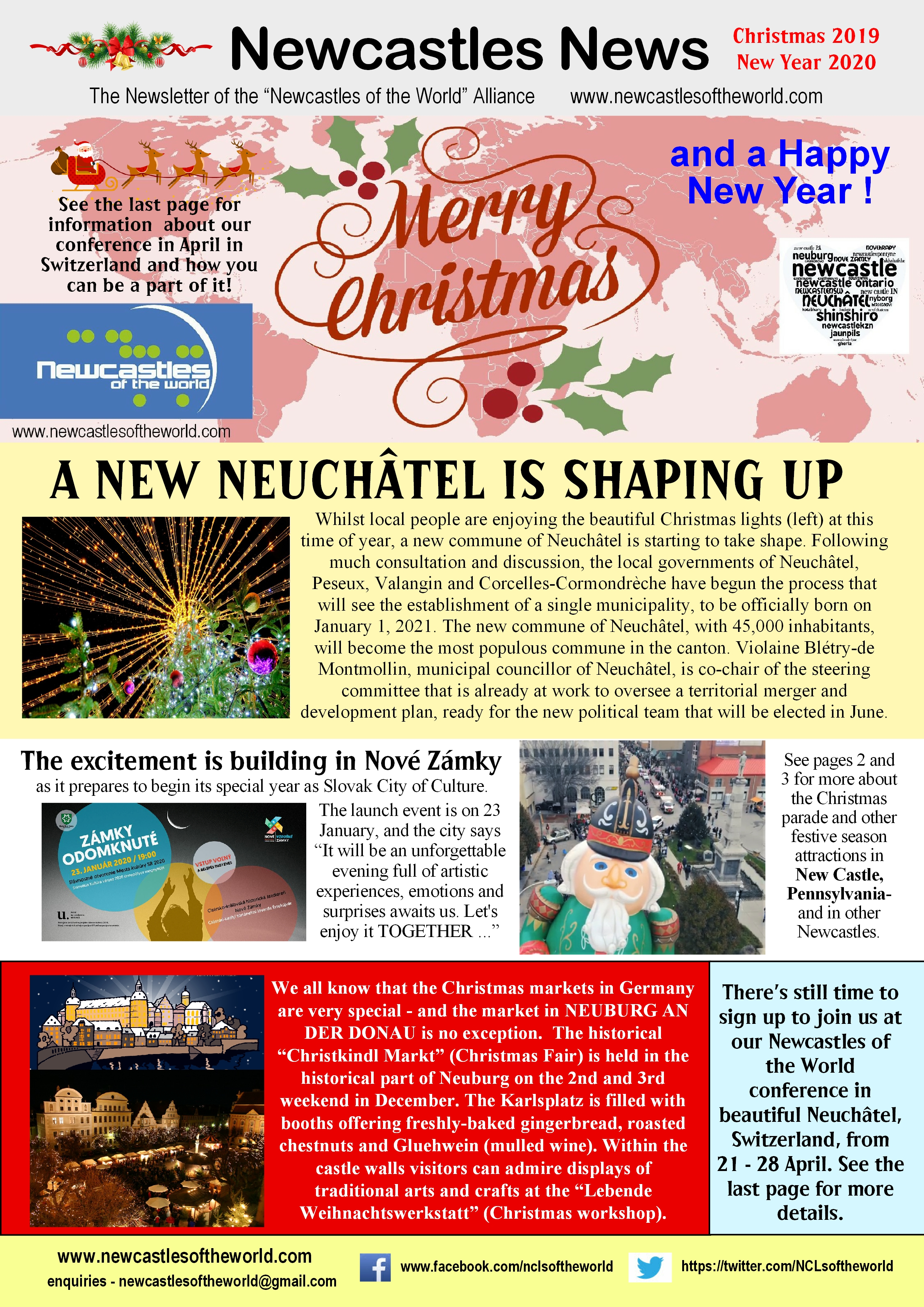 Newcastles of the World Newsletter - Christmas 2019 and New Year